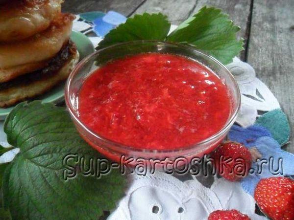 Zimné jahodové pyré s cukrom 8