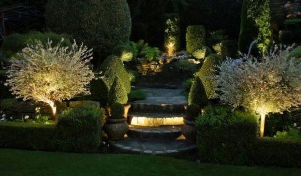 Osvetlenie záhrady: dodržiavame pravidlá as inšpiráciou 13