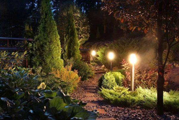 Osvetlenie záhrady: dodržiavame pravidlá as inšpiráciou 8
