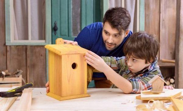 Diy birdhouse: ako si vyrobiť a zavesiť (nápady, schémy, fotografie)